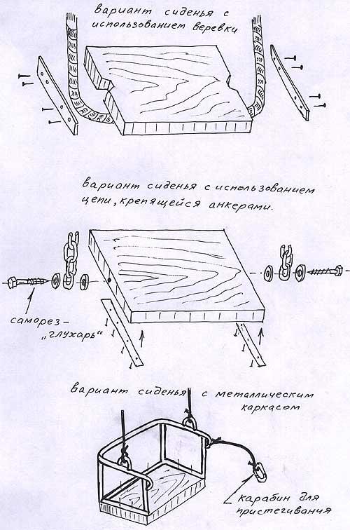 сиденья для качели