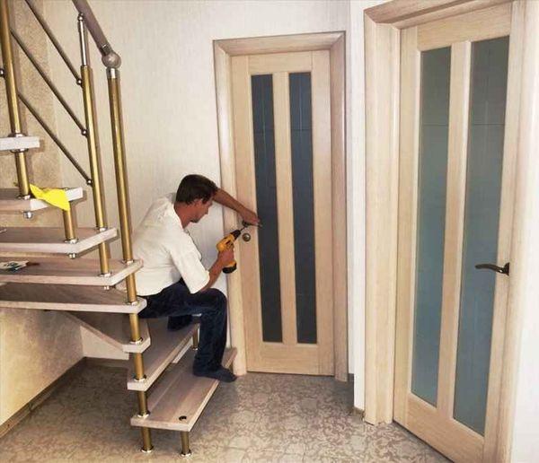 Межкомнатная дверь монтаж своими руками фото