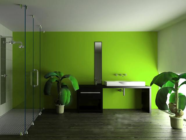 Дизайн стен водоэмульсионной