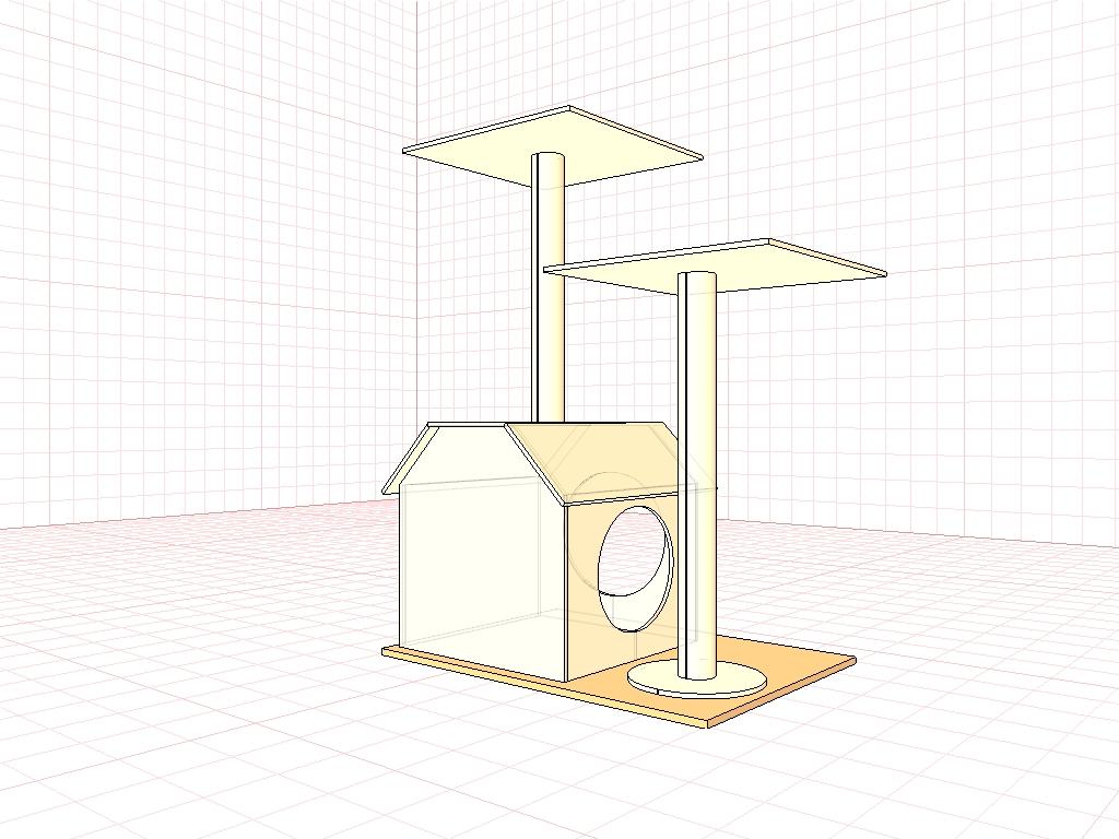 Как сделать игровой комплекс для кошки своими руками чертежи 84