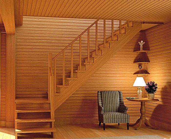 Дачная лестница на второй этаж своими руками фото