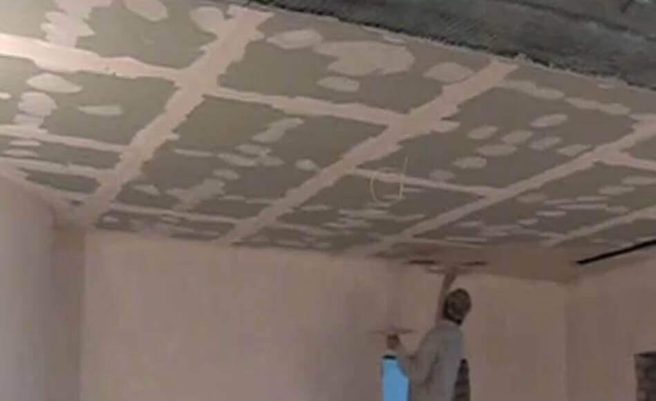 Потолки из гипсокартона обои штукатурка