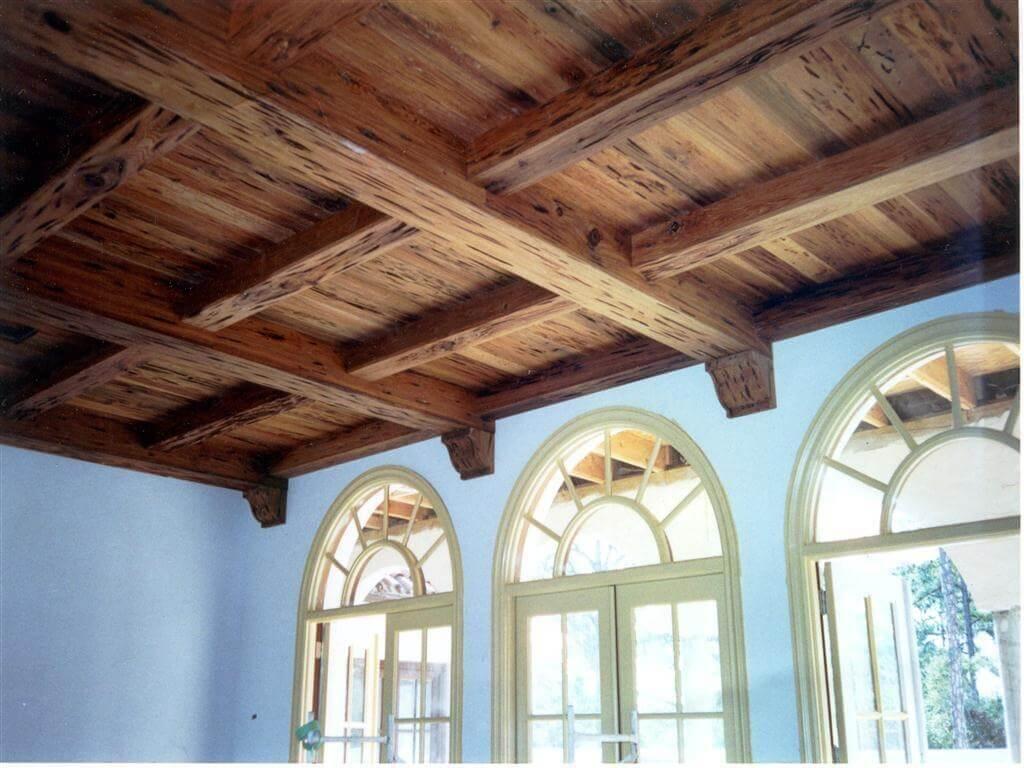 Деревянные потолки с балками своими руками 664