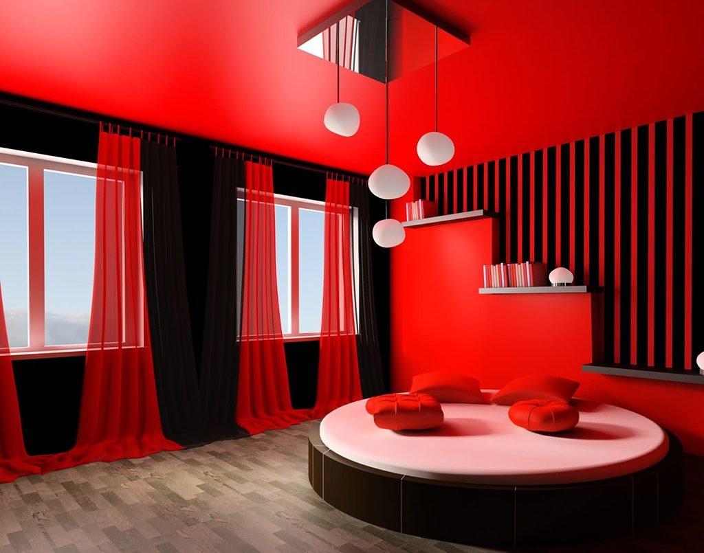 Дизайн комнат в красном цвете+фото
