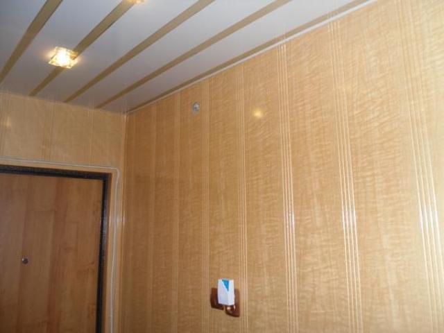 Потолок в прихожей из пластиковых панелей своими руками 65