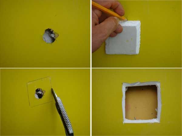 Чем закрыть дырку в стене идеи фото