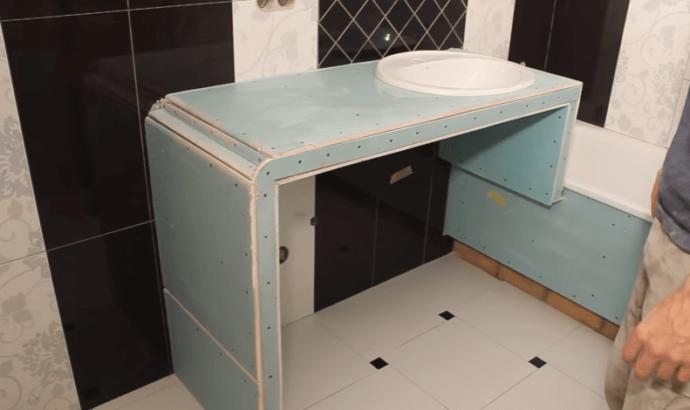 Сделать тумбу для ванны своими руками 12