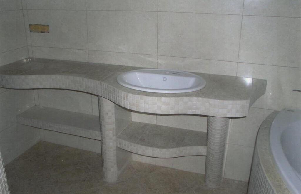 Столешница в ванную из гипсокартона своими руками 80