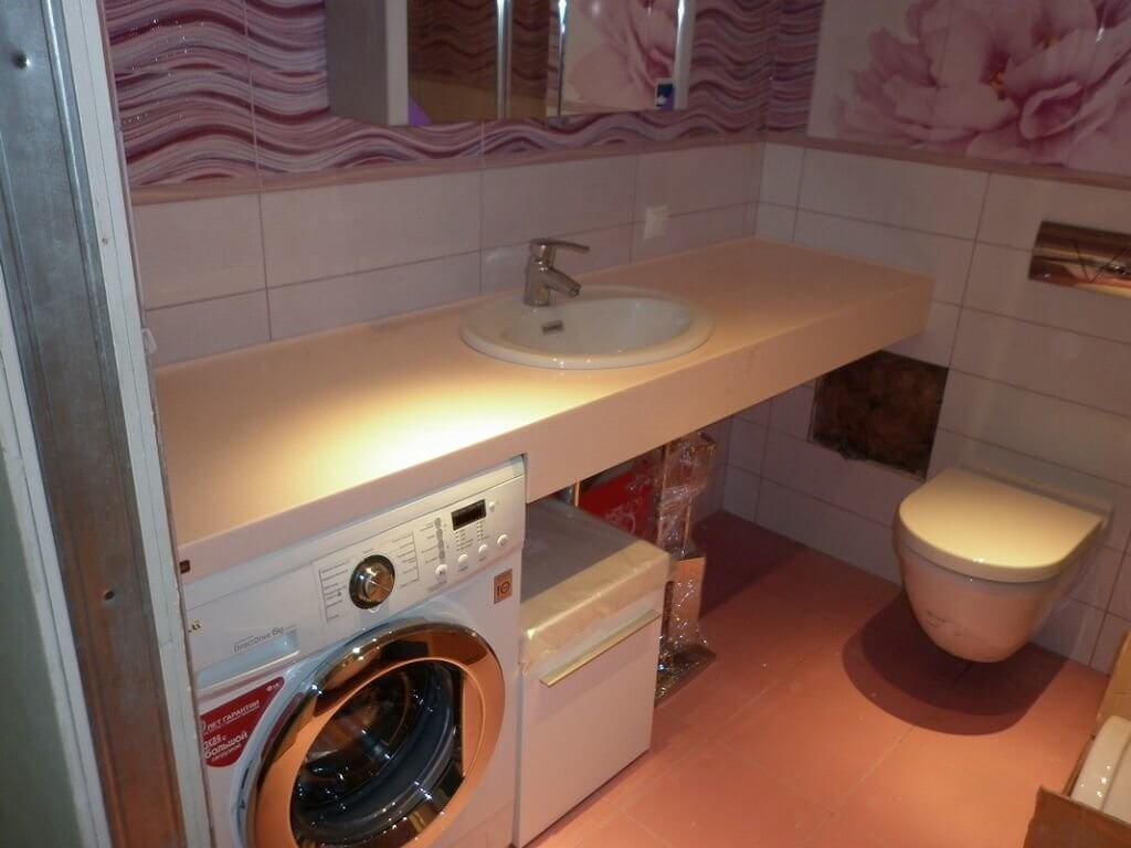 Стол под умывальник в ванную своими руками 71