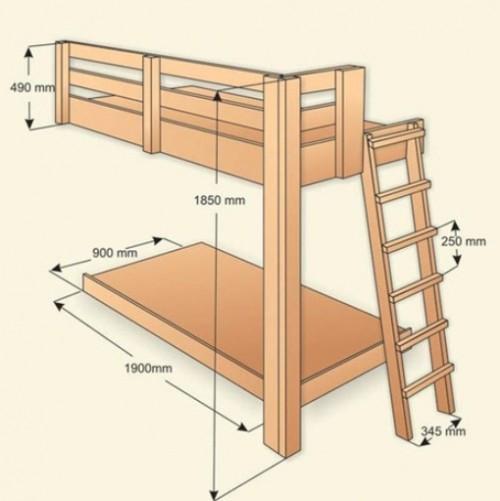 Схема готовой кровати