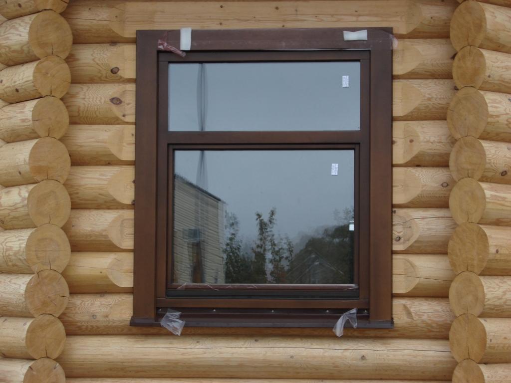 Пластиковые окна под цвет древесины