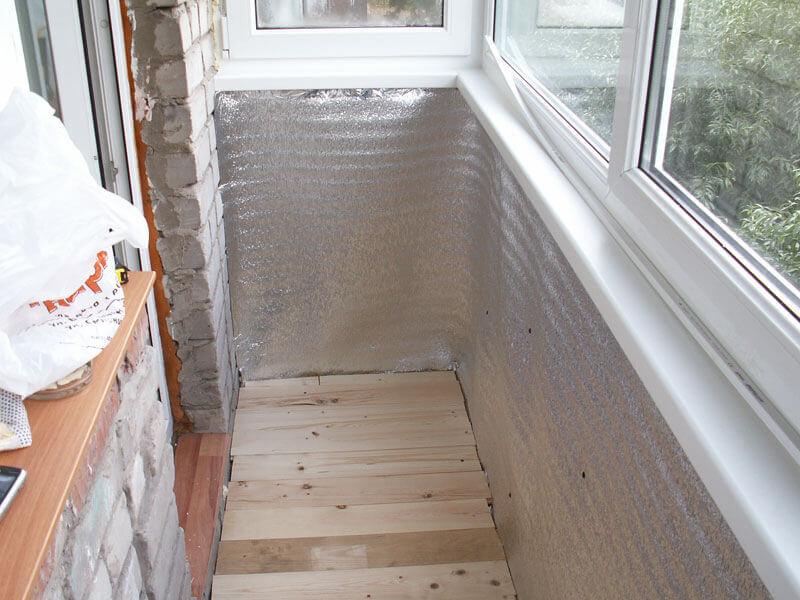Утепление балкона своими руками фото