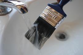 Отмывка кисти от краски