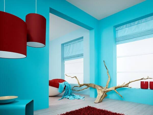 Дизайн стен покрашенных водоэмульсионкой