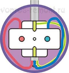 Укладка проводов в подрозетнеке