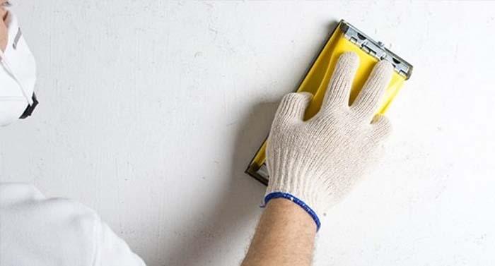 Защита от пыли при шлифовке стен