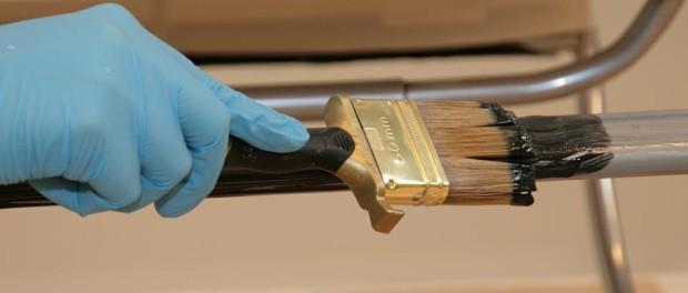 Нанесение краски на металлическую поверхность