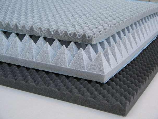 Звукопоглощающий материал разной толщины