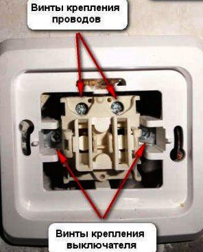 Крепление выключателя