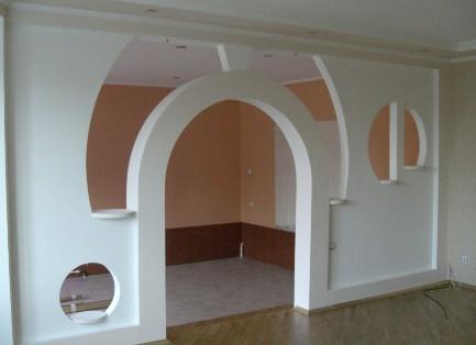 Фото арки из гипсокартона 1