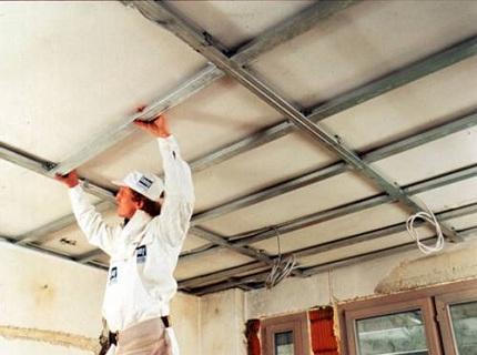Монтаж ПВХ панелей на потолок своими руками