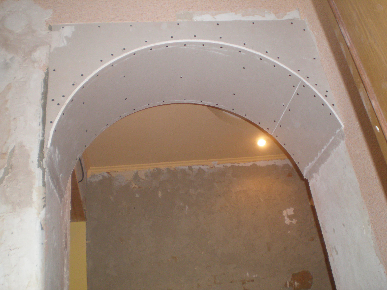 Монтаж дугообразного элемента арки