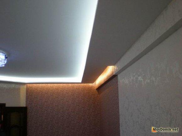 Двухуровненый потолок. Фото 1