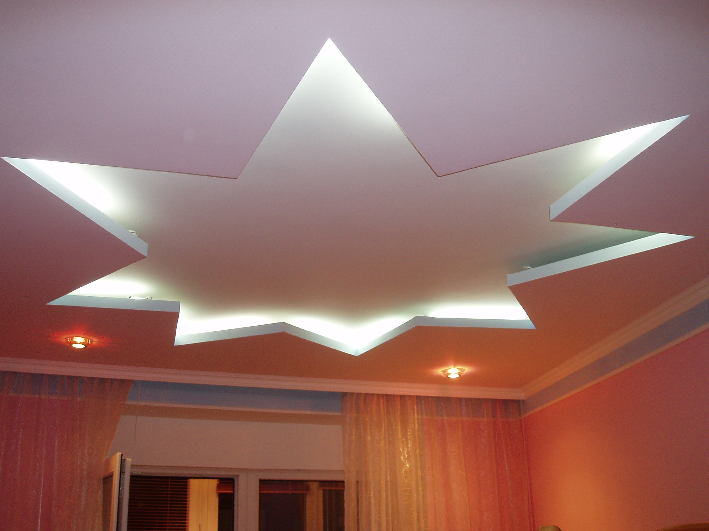 Двухуровненый потолок с подсветкой фото 2