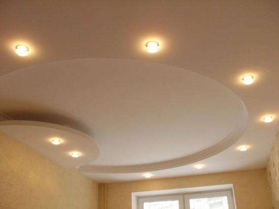 Двухуровненый потолок с подсветкой фото 3