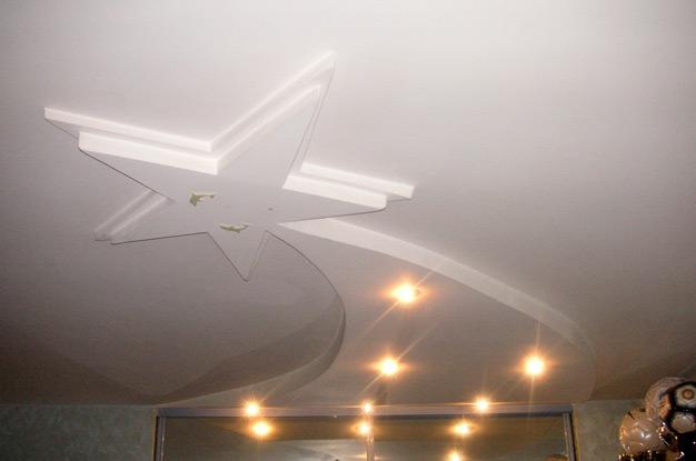 Двухуровненый потолок с подсветкой фото 5