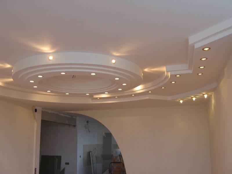 Двухуровненый потолок с подсветкой фото 1