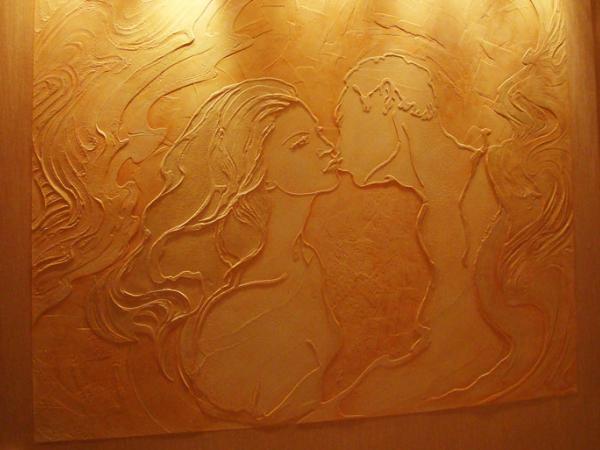 Отделка стен декоративной штукатуркой: фото №1