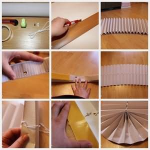 Инструкция изготовления жалюзи из обоев