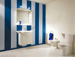 Дизайн в бело-синих цветах