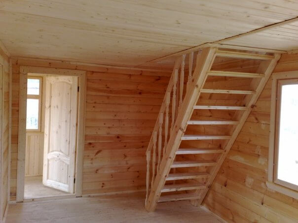 Деревянная лестница фото