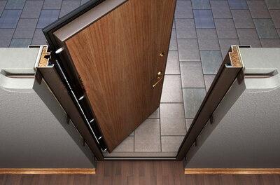 Как установить входную металлическую дверь и защелку в квартиру