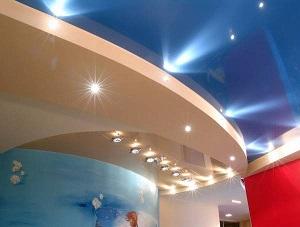 Многоуровневый потолок из гипсокартона с подсветкой своими руками (фото)