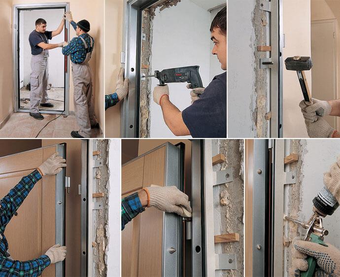 Монтаж входной двери своими руками