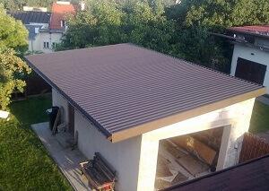 Монтаж монолитной односкатной крыши своими руками