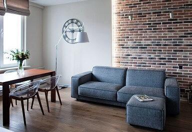 Отделка декоративным кирпичом в квартире (фото)