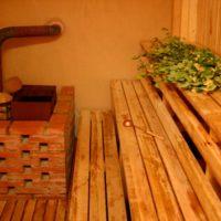 Как обложить металлическую печь кирпичом в бане