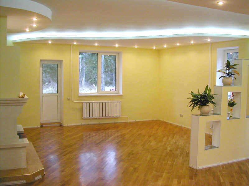 Фото внутренней отделки дома