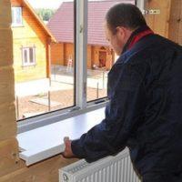 Установка ПВХ окон в деревянном доме