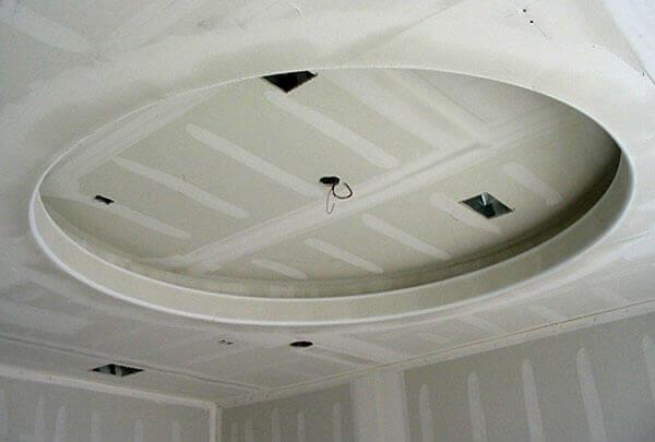 Обшивка гипсокартоном каркаса на потолке