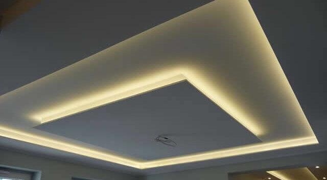 Потолок с подсветкой из гипсокартона фото