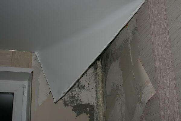 ремонт полотна натяжного потолка