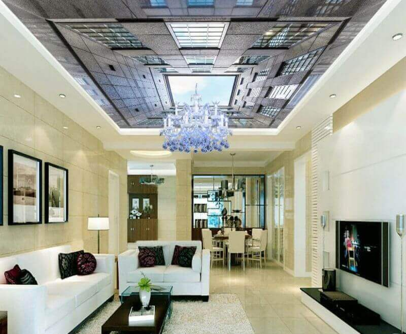 European-style-city-space-ceiling-3d-mural-designs-Wallpapers-for-living-room-ceiling-Home-Decoration-
