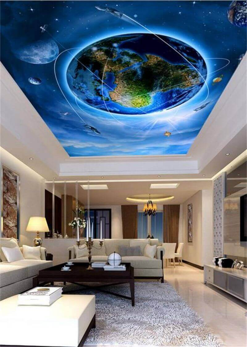 Fish-painting-for-ceiling-of-dining-room