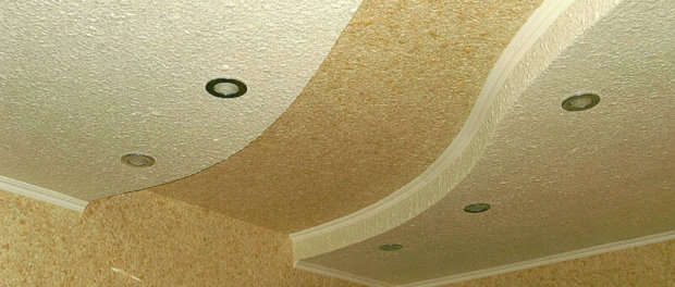 отделка потолка жидкими обоями своими руками