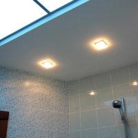 Потолок в ванной: варианты отделки
